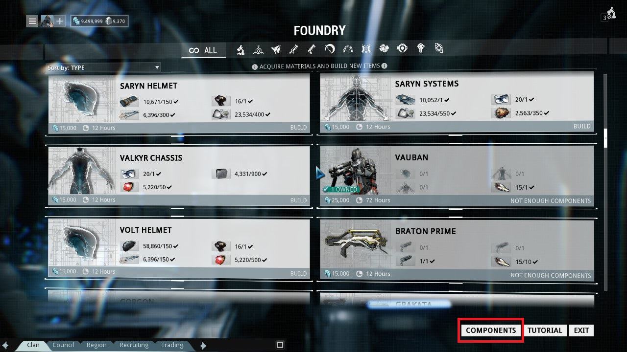 Foundry crafting faq warframe support sometimes you will see a number on the bottom left of the blueprint this indicates how many copies of that item you currently own and does not indicate malvernweather Gallery